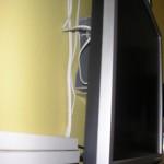 Компьютер на кухне - вид сзади